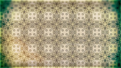 Green and Beige Vintage Seamless Ornament Wallpaper Pattern Design Template