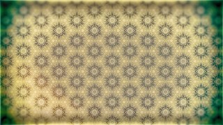 Green and Beige Vintage Floral Seamless Pattern Background Graphic