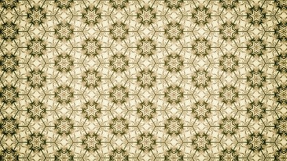 Green and Beige Vintage Floral Ornament Background Pattern Template