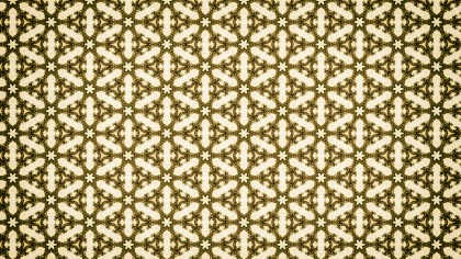 Green and Beige Vintage Floral Seamless Pattern Wallpaper Design Template