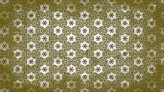 Green and Beige Vintage Decorative Ornament Wallpaper Pattern