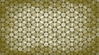 Green and Beige Vintage Floral Ornament Wallpaper Pattern Graphic