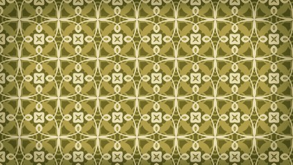 Green and Beige Vintage Floral Wallpaper Background