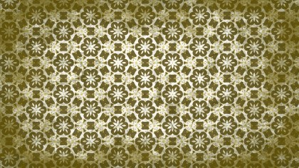 Green and Beige Vintage Decorative Floral Seamless Pattern Background Image