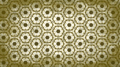 Green and Beige Vintage Ornamental Pattern Background