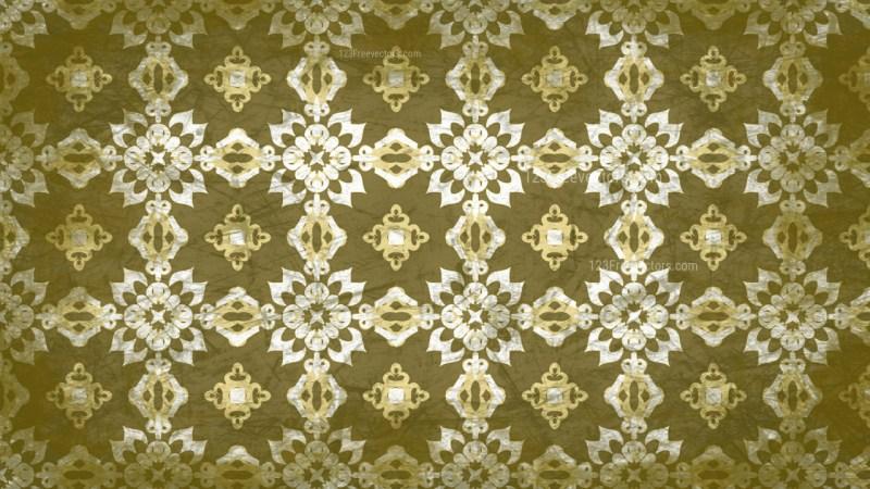Green and Beige Vintage Decorative Floral Ornament Background Pattern Design Template