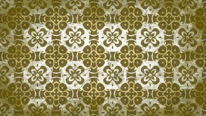 Green and Beige Vintage Ornament Background Pattern Image