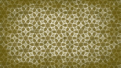 Green and Beige Vintage Seamless Floral Background Pattern