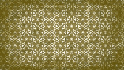 Green and Beige Vintage Seamless Ornament Background Pattern Graphic