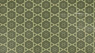 Green and Beige Vintage Floral Pattern Wallpaper