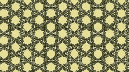 Green and Beige Vintage Seamless Ornamental Pattern Wallpaper