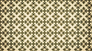 Green and Beige Vintage Floral Pattern Texture Background Template