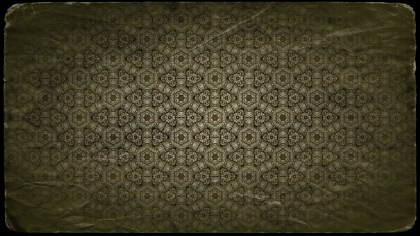 Green and Black Vintage Floral Seamless Pattern Wallpaper Design Template