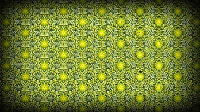 Green and Black Vintage Ornamental Seamless Pattern Wallpaper Template