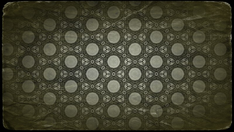 Green and Black Vintage Seamless Ornament Wallpaper Pattern Design Template