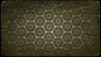 Green and Black Vintage Floral Seamless Pattern Background Graphic
