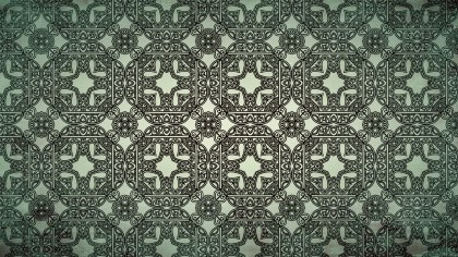 Green and Black Vintage Seamless Ornament Background Pattern Graphic