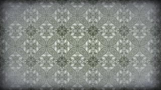 Green and Grey Vintage Ornamental Pattern Wallpaper