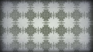 Green and Gray Vintage Decorative Floral Ornament Wallpaper Pattern Image