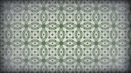 Green and Gray Vintage Floral Ornament Wallpaper Pattern Graphic