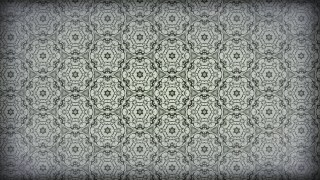 Green and Grey Vintage Seamless Floral Wallpaper Pattern