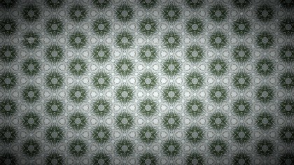 Green and Grey Vintage Floral Wallpaper Background