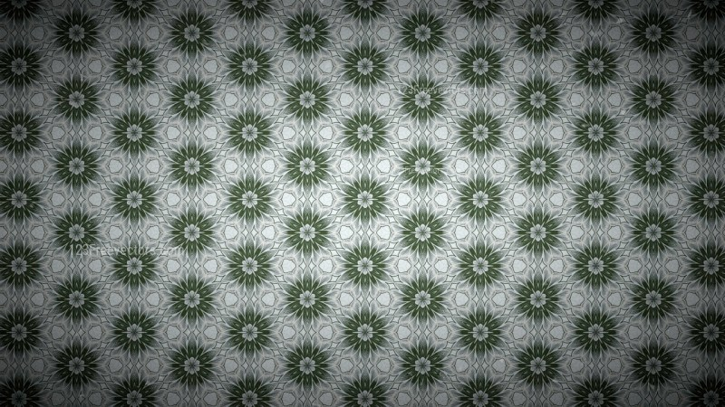 Green and Gray Vintage Floral Pattern Texture Background Template