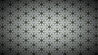 Green and Grey Ornamental Vintage Background Pattern