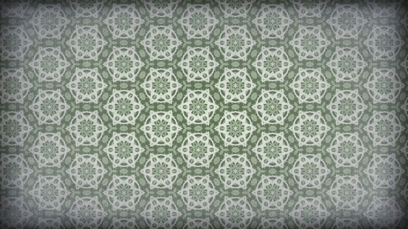 Green and Gray Vintage Seamless Wallpaper Pattern Template
