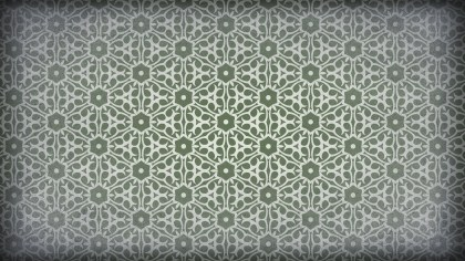 Green and Gray Vintage Decorative Floral Seamless Pattern Background Image