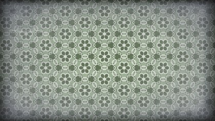 Green and Grey Vintage Floral Pattern Background