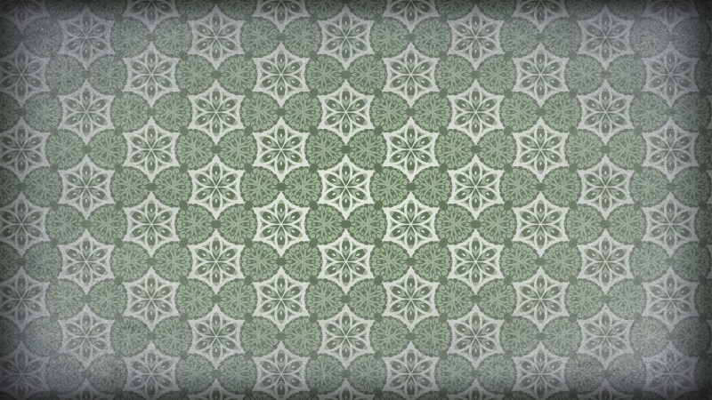 Green and Gray Vintage Ornamental Seamless Pattern Background Design