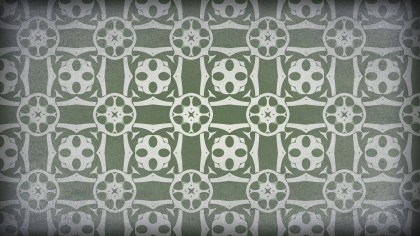 Green and Gray Vintage Floral Ornament Background Pattern Template