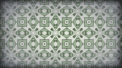 Green and Grey Vintage Flower Background Pattern