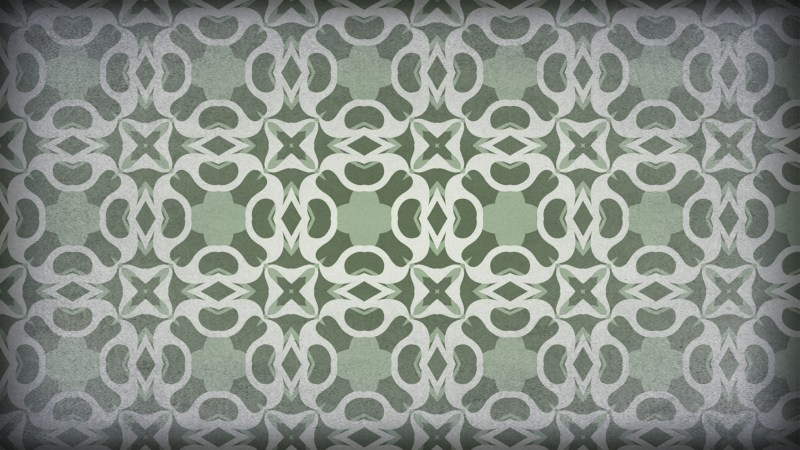 Green and Grey Vintage Seamless Floral Background Pattern