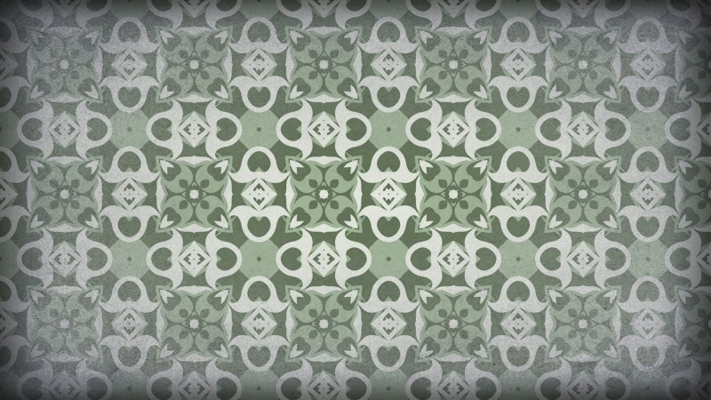 Green and Gray Vintage Seamless Ornament Background Pattern Graphic