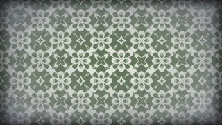 Green and Gray Vintage Floral Seamless Pattern Wallpaper Design Template