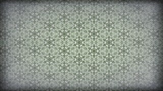 Green and Grey Vintage Seamless Ornamental Pattern Wallpaper