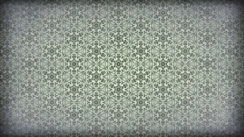 Green and Grey Vintage Seamless Ornamental Pattern Wallpaper