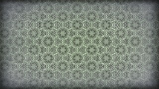 Green and Grey Vintage Decorative Ornament Wallpaper Pattern