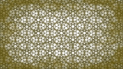 Green and White Vintage Ornament Wallpaper Pattern Design