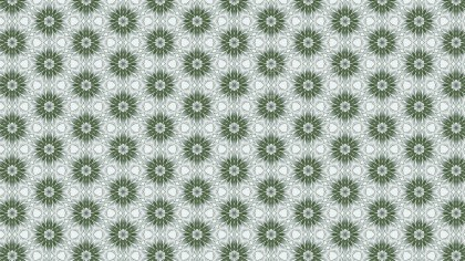 Green and White Vintage Seamless Wallpaper Pattern Template