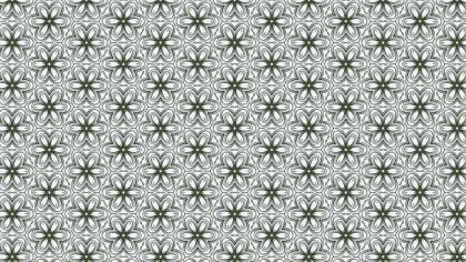 Green and White Vintage Decorative Floral Pattern Background