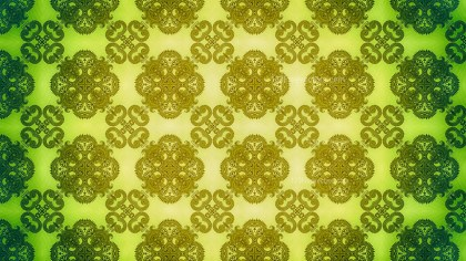 Green and Yellow Floral Ornament Background Pattern Template