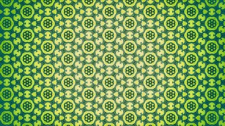 Green and Yellow Flower Wallpaper Pattern