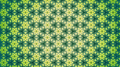 Green and Yellow Ornament Wallpaper Pattern Design