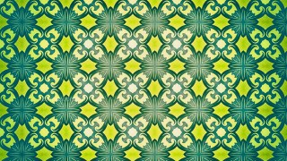 Green and Yellow Seamless Wallpaper Background