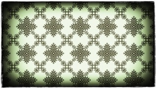 Green Black and White Vintage Decorative Floral Ornament Background Pattern