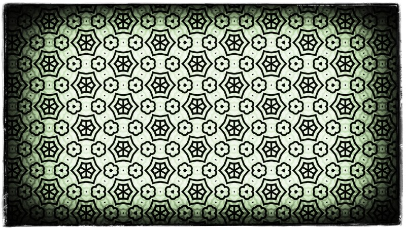 Green Black and White Vintage Decorative Ornament Background Pattern