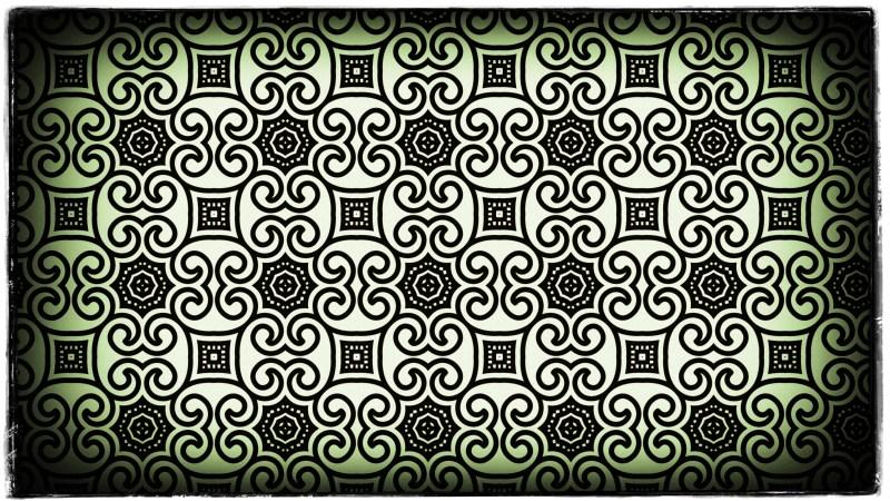 Green Black and White Vintage Flower Background Pattern